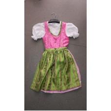 Dirndl mit Bluse, grün & pink