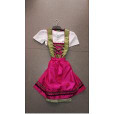 Dirndl mit Bluse, grün-pink