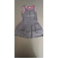 Sommerkleid gesteift schwarz rosa