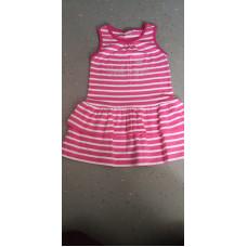 Sommerkleid pink gestreift
