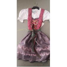 Dirndl mit Bluse Hirsch rosa-lila