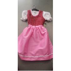 Dirndl mit Bluse rosa-rot