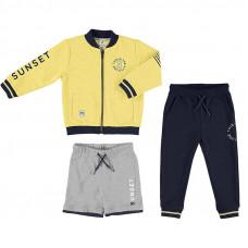 Jogger 3er Set  gelb Unisex