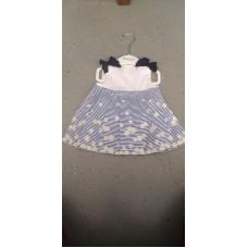 Baby Kleid Blumen Blau