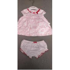 Baby Kleidchen mit Unterhose rot