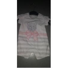 Baby Strampler Bärenschleife rosa