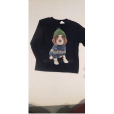 """Baby Langarmshirt """"Hund"""""""