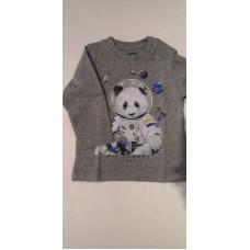 """Baby Langarmshirt """"Panda"""" grau"""
