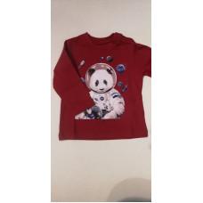 """Baby Langarmshirt """"Panda"""" rot"""