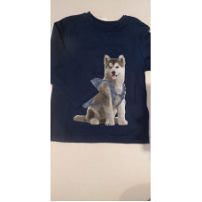 "Baby Langarmhirt ""Huskey"" blau"