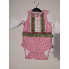 Baby Trachtenstrampler rosa