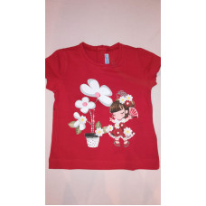 rotes T-Shirt, Mädchen