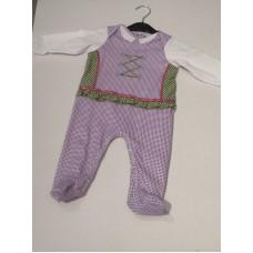 Baby Trachtenstrampler lila