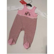 """Baby Trachtenstrampler """"Rehe"""" rosa"""