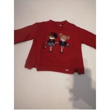 Baby Langarmshirt Twins rot