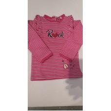 """Baby Langarmshirt """"Rock"""" pink"""