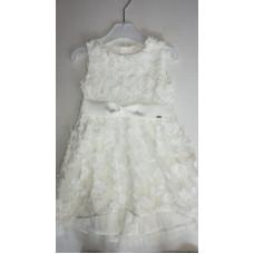 weißes Kleid mit Band