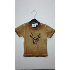 """braunes T-Shirt """"Hirsch"""""""
