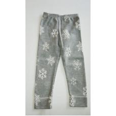 graue Hose mit Schneeflocken