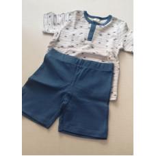 Pyjama kurz in blau