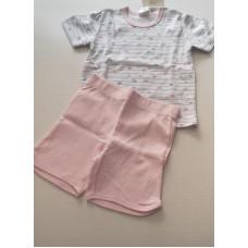 Pyjama kurz in rosa