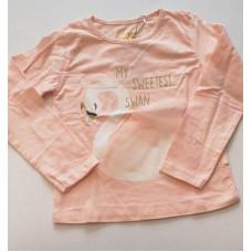 "Langarmshirt ""Schwan"" rosa"