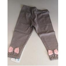 Baby Leggings in grau mit rosa Masche