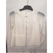 Bluse in weiss